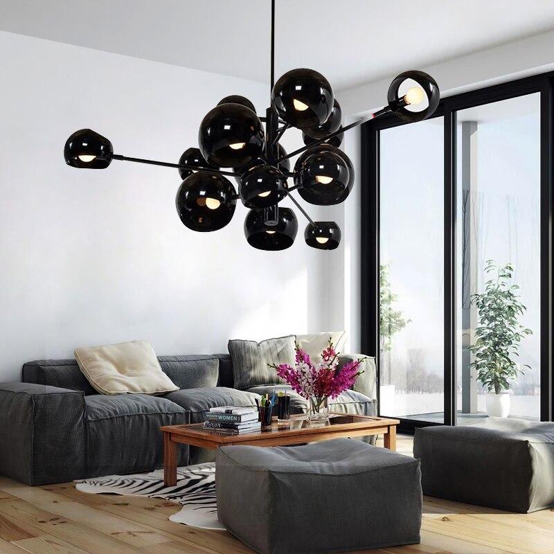Простая Современная кластерная люстра, креативное украшение, шаровая люстра, освещение для столовой, отеля, виллы