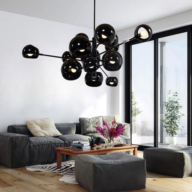 Semplice e moderno cluster lampadario creativo decorazione di palla ...