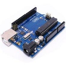 100 ШТ./ЛОТ UNO R3 доска MEGA328P 100% оригинал и новый ATMEGA16U2 без Usb-кабель для Arduino