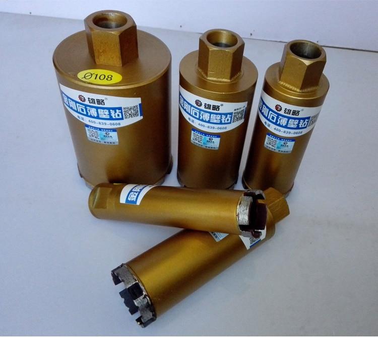 63mm Diamond Drill Bit 63*180mm Water Diamond Core Bit Use For Drilling Concrete Wall. Length: 180mm. Thread: M22