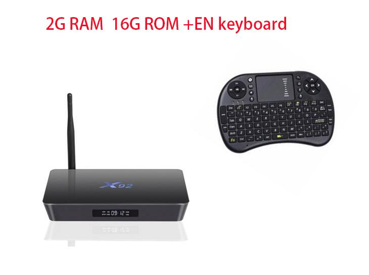 top X92 2GB / 16GB Android 6.0 Smart TV Box Amlogic S912 OCTA Core CPU Fully Loaded 5G Wifi 4K HD H.265 Set Top Box m8 fully loaded xbmc amlogic s802 android tv box quad core 2g 8g mali450 4k 2 4g 5g dual wifi pre installed apk add ons