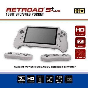 Image 1 - 16 битная Карманная игровая консоль с HDMI ULTRA SNES 5PLUS, портативная игровая консоль, 7 дюймовый большой экран, беспроводные контроллеры 2,4 ГГц