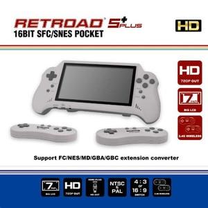Image 1 - 16BIT HDMI ULTRA SNES TASCHE RETROAD 5PLUS Video Spielkonsole handheld spiel player 7 zoll großen screem 2,4G wireless controller