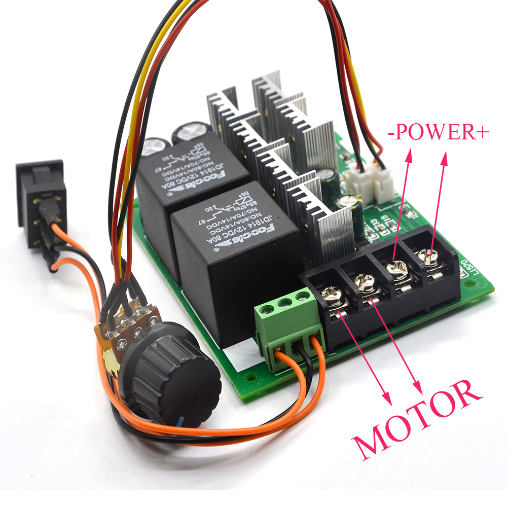 Dc Speed Motor Controller Forward Reverse 10 50v 40a 60a For Pwmmotorcontrollerwithforwardandreversejpg Brush Reversing Control 0 100