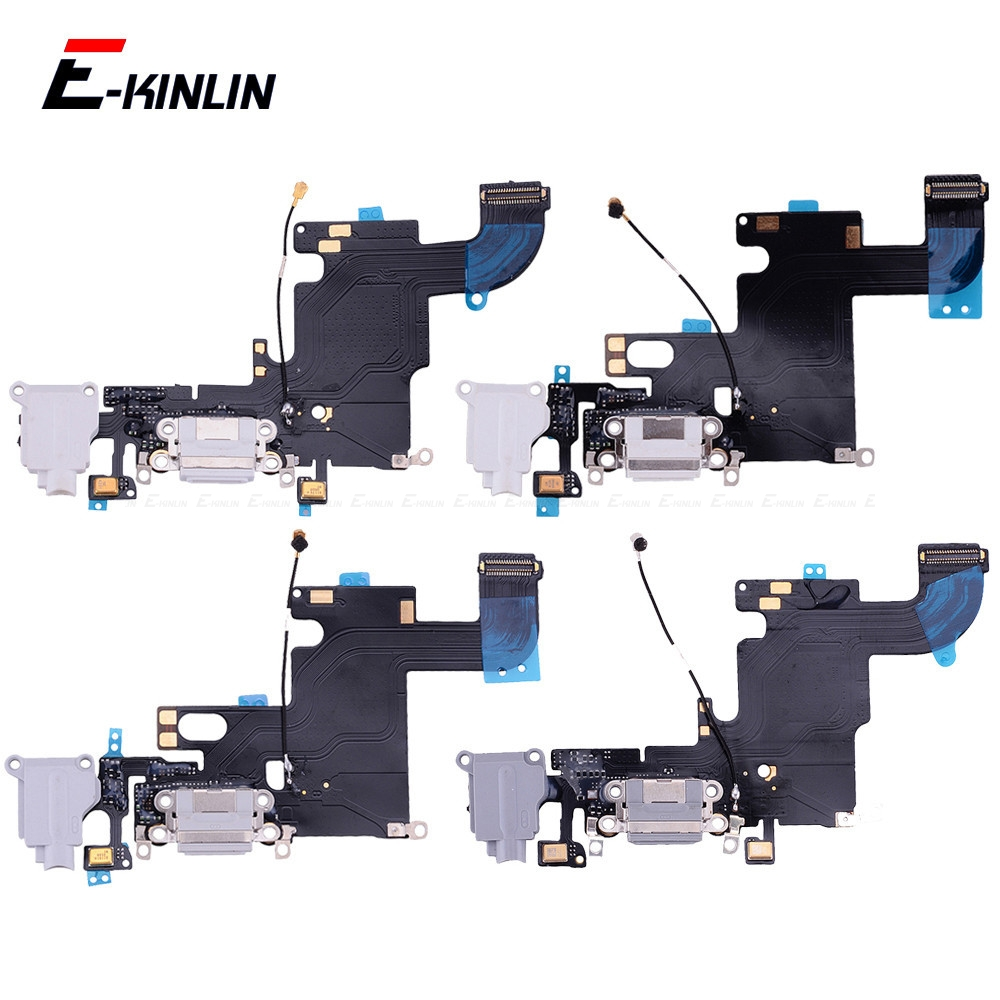USB Dock <font><b>Connector</b></font> Charging Port Flex Cable For <font><b>iPhone</b></font> 4S 5 5S SE 6 <font><b>6S</b></font> Plus USB Charger Plug Flex Cable Repair Parts image