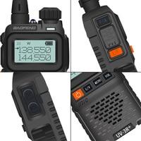 מכשיר הקשר dual band Baofeng UV-3R + מיני רדיו קיד מכשיר הקשר UV-3R Dual Band VHF UHF Portable שני הדרך רדיו Ham Hf משדר UV 3R Woki טוקי (2)