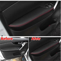 For Nissan Qashqai J11 2016 2017 2018 2019 Interior PU Door Armrest Surface Cover Trim Panel Guards Car Styling