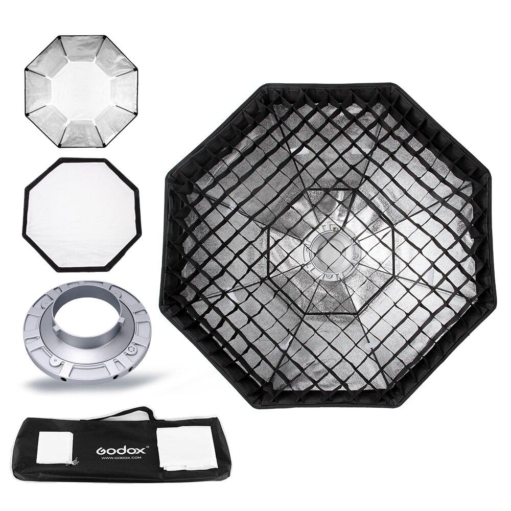 """bilder für Godox pro studio octagon softbox 95 cm 37 """"wabengitter reflektor softbox mit bowens halterung für studio strobe flash licht"""