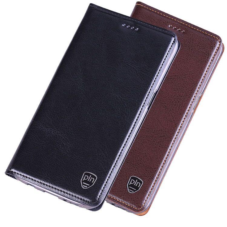 imágenes para ND02 cubierta del tirón del cuero genuino para Philips Xenium V387 teléfono celular caso para Philips Xenium V387 envío libre cubierta de cuero