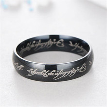 Free Shipping 316L Stainless Steel Ring King 6mm Titanium Pendant Mens Jewelry Wedding