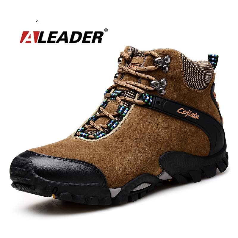 Mens Leather Hiking Boots Waterproof Shoes 2015 Autumn Winter Outdoor Shoes For Man Sport Boots ...