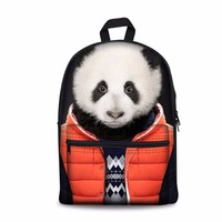 Noisydesigns lovely anmals Panda Shoulder Backpack for Teen students kid gifts bag Customize image Children Schoolbag