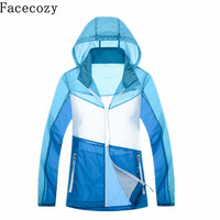 Women Summer Quick Dry Hiking Jacket Outdoor Sport Patchwork Fishing Trekking Coat Female Ultra Thin Camping