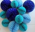 """5 unids/lote 6 """"(15 cm) Decorativo Papel de seda Honeycomb Balls Flor Pastel de Cumpleaños Del Bebé Ducha de La Boda de Vacaciones Decoraciones del partido"""