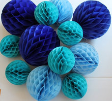 5pcs/lot  6″(15cm) Decorative Tissue Paper Honeycomb Balls Flower Pastel Birthday Baby Shower Wedding Holiday Party Decorations