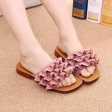 Тапочки с бантом для девочек; летние модные пляжные сандалии на плоской подошве с мягкой подошвой; детские сандалии для студентов; Летняя обувь