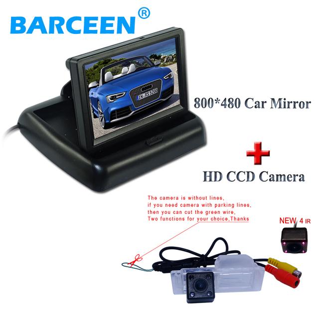 """Coche hasta la cámara 170 ángulo de visión amplio 4 ir + 4.3 """"monitor del coche pantalla LCD plegable Uso para Chevrolet Cruze hatchback"""