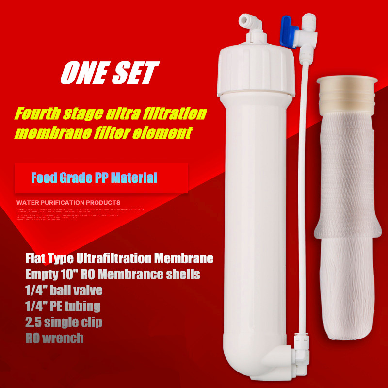 Water Purifiers Accessories 10-Inch Ultrafiltration RO Membrance Shell Accessories Level 4th Water Filter Hollow Fiber Membrane 500l h kitchen water filter machine with 304 stainless steel shell and food grade ultrafiltration membrane for water treatment