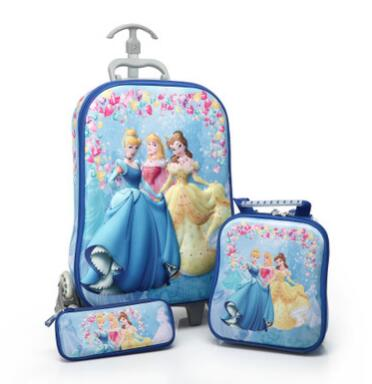Kids Rolling Bag 3D stereo girls Boys trolley case Cartoon Children school mochilas school bag Kids Trolley Bags with wheels