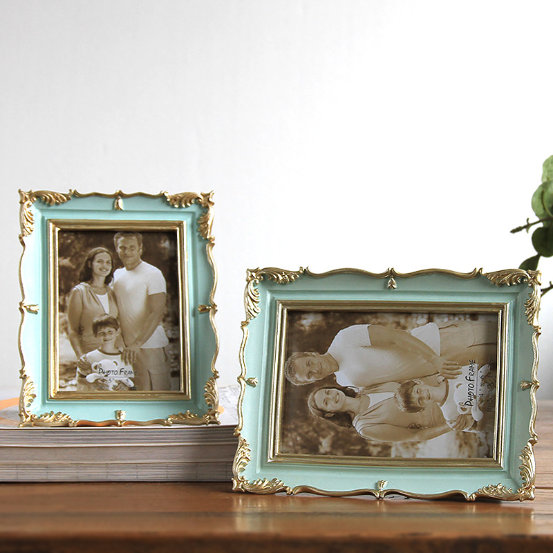 High Quality American Style Photo Frame Wedding Desktop Picture Frames Living Room Home Decor Resin Photo Frame Popular Gift in Frame from Home Garden