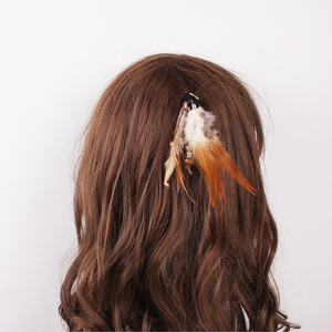 Estilo boêmio elástico faixa de cabelo de borracha acessórios para o cabelo peruca bandana pena corda headdress para mulher 54