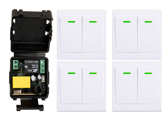 Lampen Op Afstandsbediening : Ac220v 1ch draadloze afstandsbediening schakelaar ontvanger muur