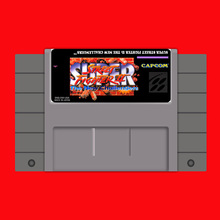Super Street Fighter II-The New Challengers 16 bit Big Gray Game Card For USA NTSC Game Player