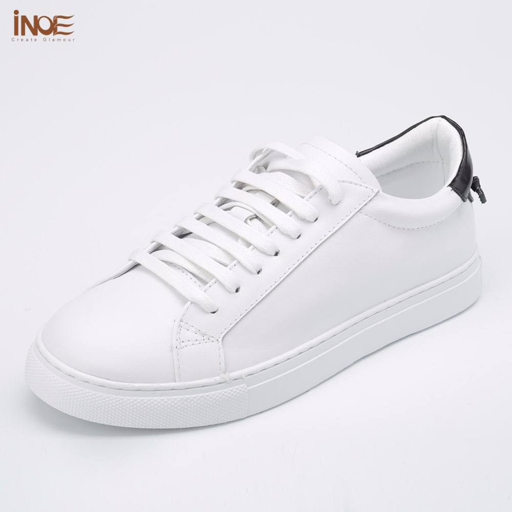 INOE 2017 fashion genuine cow leather casual spring autumn men sneakers shoes for men drive car flats leisure shoes white blackINOE 2017 fashion genuine cow leather casual spring autumn men sneakers shoes for men drive car flats leisure shoes white black