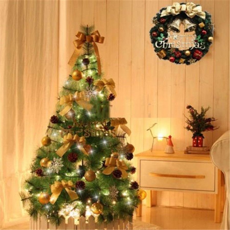 FD3216 new Merry Christmas Party Poinsettia Pine Wreath Door Wall ...