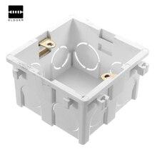 DIY Марка Долларовая цена Wallpad 86*86 ММ Кассета Универсальный Белый для Настенного Монтажа Box для Настенный Выключатель и Розетка Back Box