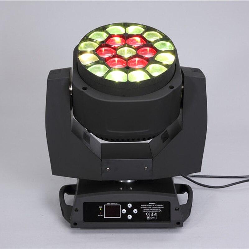 Высокое Качество дискотека 19*15 Вт 4 в 1 RGBW большой пчелы глаз k10 led зум moving головной свет вращения Лен fKaleido эффектов для свадьбы