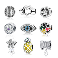 2017 Summer Collection Personality DIY Charm With Mix Enamel Fit Original Pandora Charms Bracelet 925 Sterling