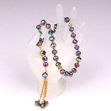10 millimetri 1lot (33 perline) vetro Musulmano Preghiera Tasbeeh Masbaha Allah Peres di Cristallo In Possesso di Rosario Braccialetto di Perline Di Cristallo Perline di Preghiera