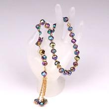 10mm 1lot (33 kralen) glas Moslim Gebed Tasbeeh Masbaha Allah Peres Crystal Holding Rozenkrans Kralen Armband Kristal Gebed Kralen