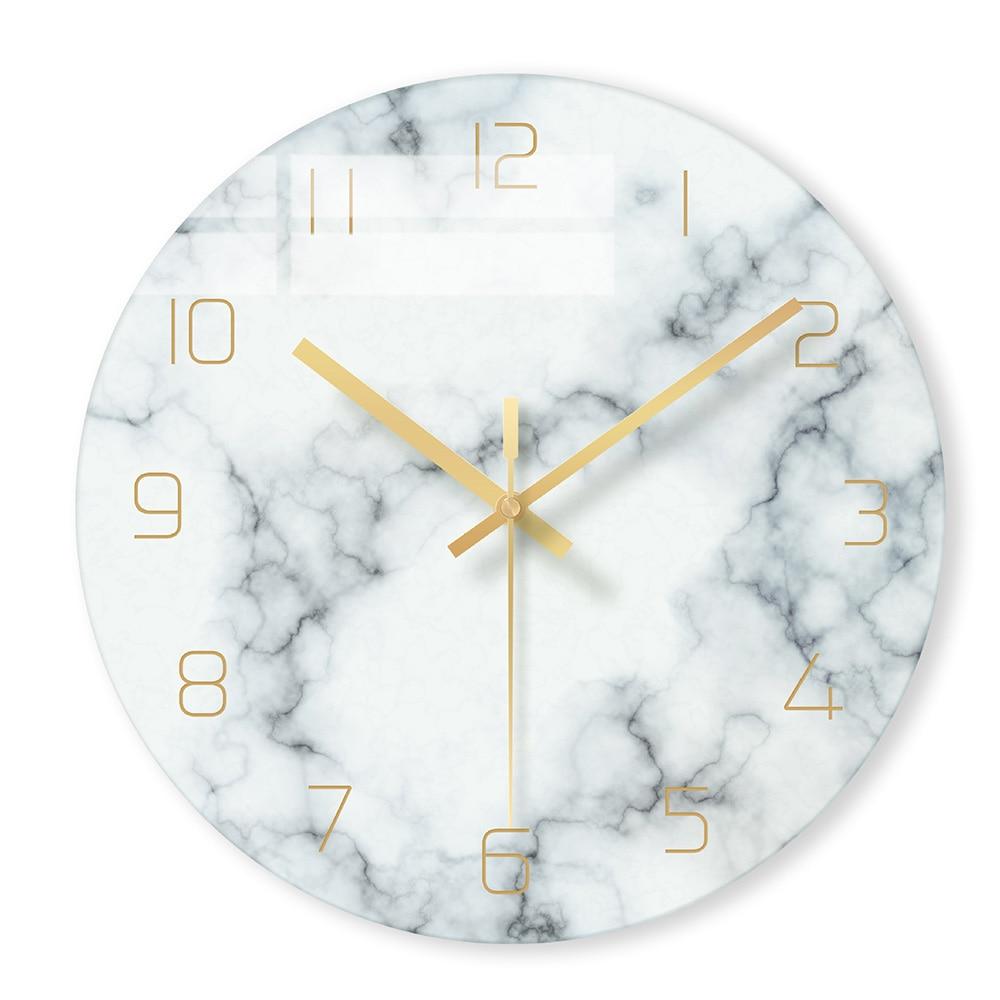 שעון קיר בעיצוב מארבל במגוון צבעים 1