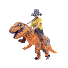 T-REX dinosaur cosplay  Halloween inflatable mounted tyrannosaurus rex holiday costume funny