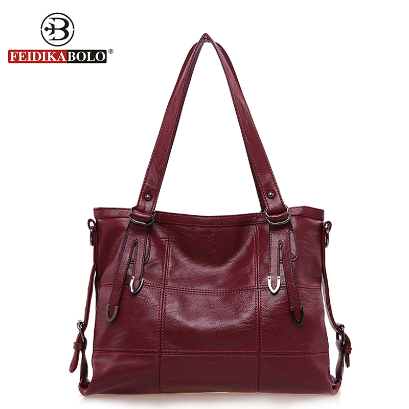 Famous Brand Women Handbags PU Leather Bag Women Tote High Quality Ladies Shoulder Bags Large Capacity Ladies Top-Handle Bags 2pcs set pu leather women handbags famous brand star tassel women bags large capacity tote bag luxury elegant handbag leather