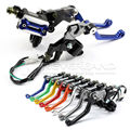 "2pcs 7/8"" 22MM Motorcycle Brake Hydraulic Master Cylinder Reservoir Levers for Honda Suzuki Yamaha Kawasaki KTM 8 Colors D10"