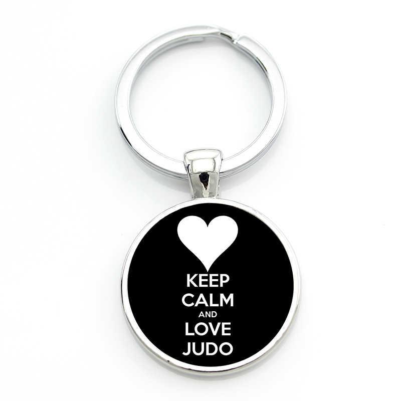 New Arrival novelty thời trang Tình Yêu Judo Karate keychain tinh tế ưa phụ nữ đàn ông thể thao giản dị chain key ring đồ trang sức SP578
