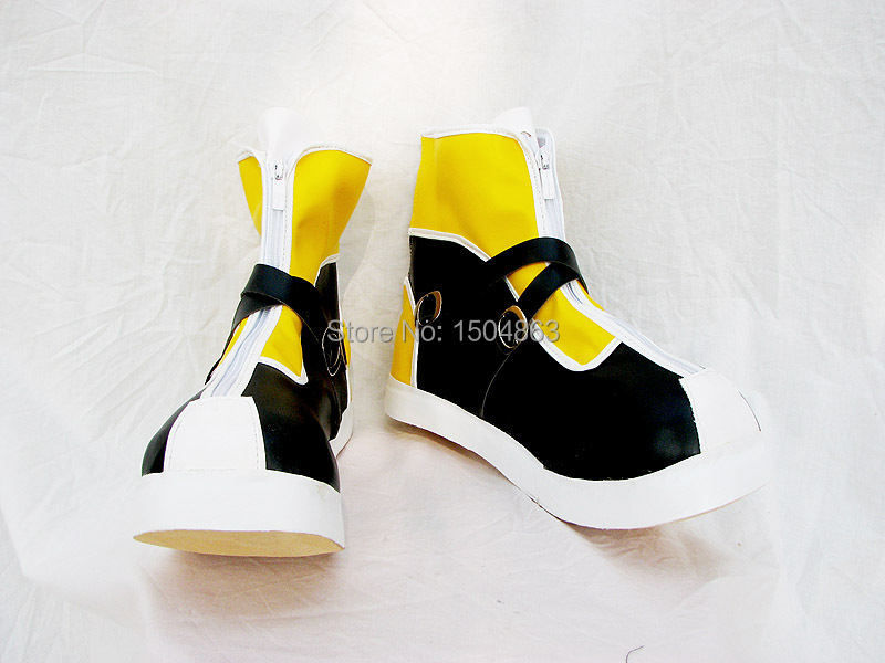 Kingdom Hearts Sora Yellow Boots For Halloween Cosplay Shoes Custom-Made Free Shipping