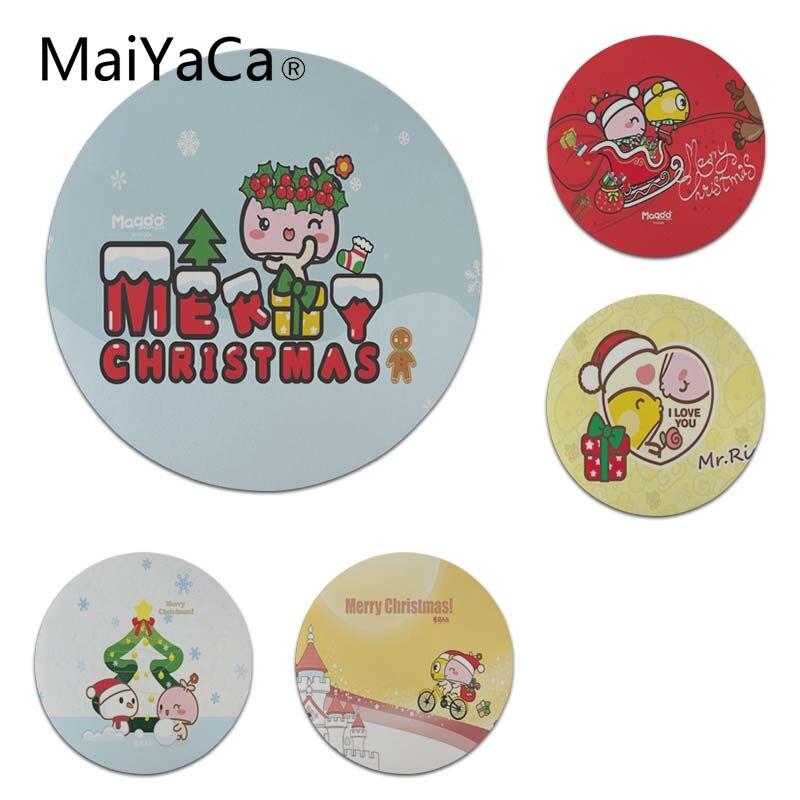 MaiYaCa Нескользящие PC мультфильм магу Рождеством коврик для мыши геймер играть коврики Размеры для 200x200x2 мм и 220x220x2 мм круглый Мышь коврики