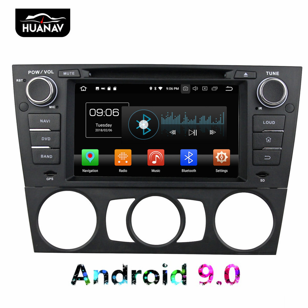 DSP Android 9.0 no Car DVD Player GPS Navigation For BMW E90 Saloon E91 Tourin E92 auto Stereo Automedia Multimedia headunit 64G image