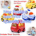Child Light Musical Electronic Flashing Pull Back Taxi Police Ambulance Fire Engine Car Toys Colorful Light Sound Car Toy