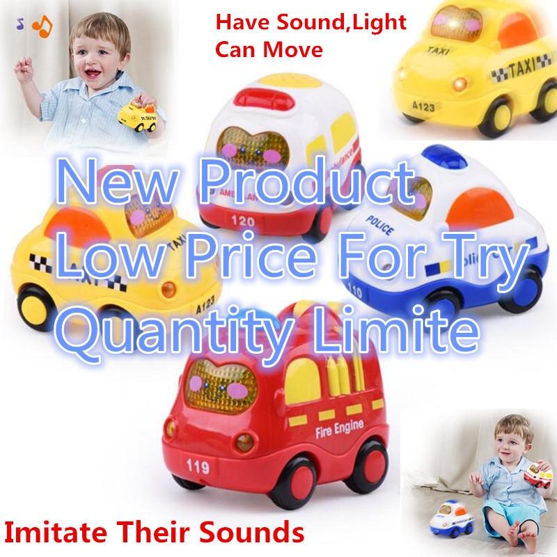 Luz niño musical electrónico flashing tire volver toys colorful sound light taxi