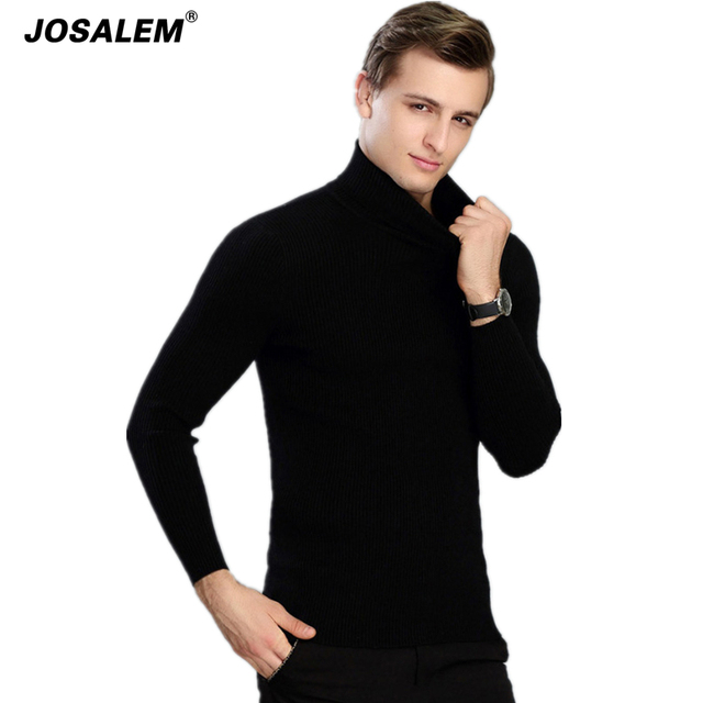 Mens Cashmere Turtleneck Soft Sweater New 2017 Autumn Winter Youth