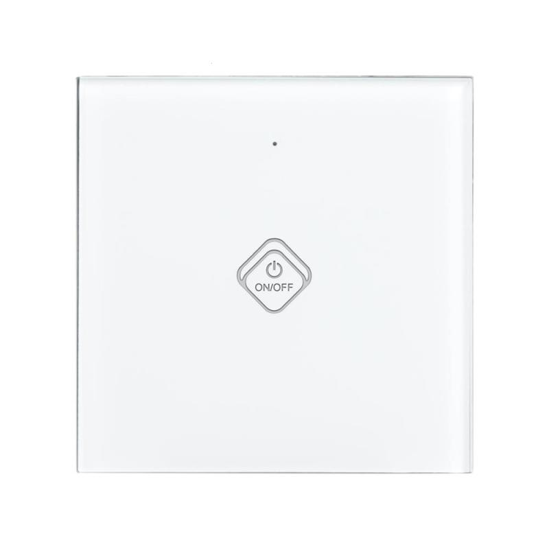 EU Plug Wifi Smart Light Switch 1 Gang 1 Way Waterproof Crystal Glass Touch Panel Remote Control Wall Light Switch iOS Android smart home eu standard 1 gang 2 way light wall touch switch crystal glass panel waterproof and fireproof