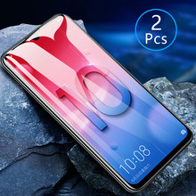 2pcs Tempered Glass For Huawei P Smart 2019 Case Full Cover Screen Protector Protective Phone Safety Tremp On Psmart 2019 6.21(China)