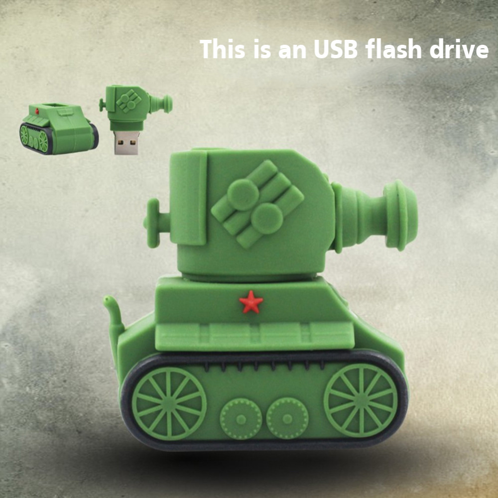 Tank Model USB 2.0 pen drive 16GB 8GB 4GB pendrive USB Stick USB Flash Drive Memory Stick for Tablet Dropshipping