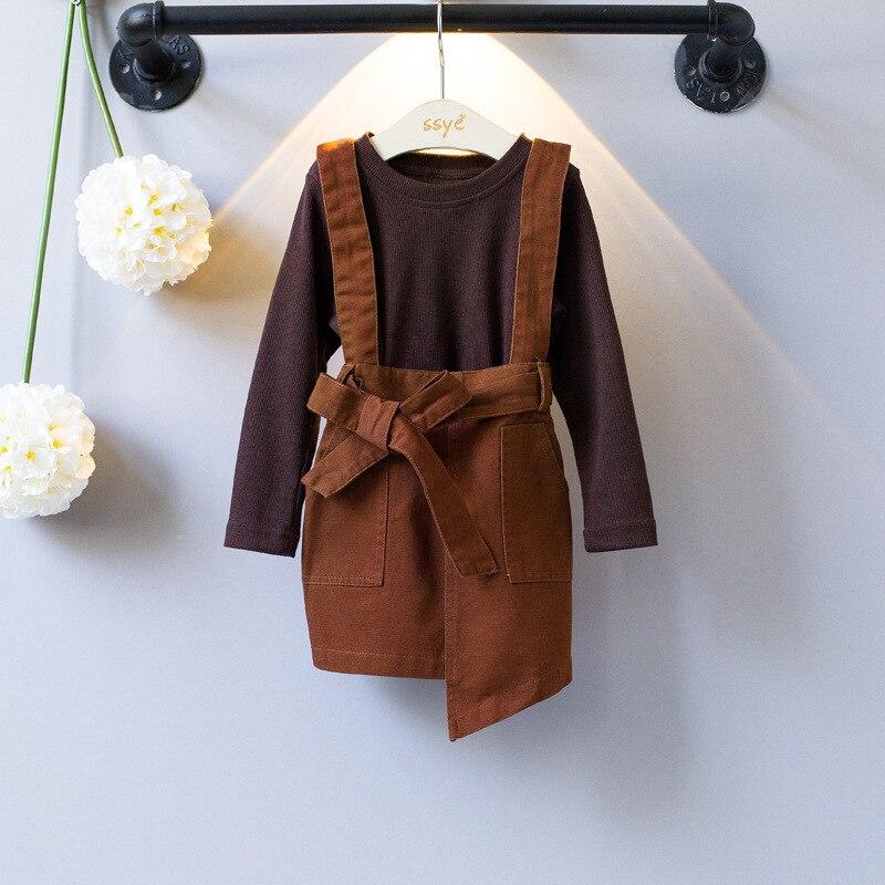 Warm brown strap dress