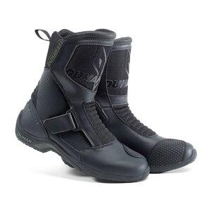 Image 1 - Мотоциклетные ботинки, мужские мотоциклетные дорожные гоночные ботинки из суперволокна, мотоциклетные ботинки, черные ботинки для мотокросса